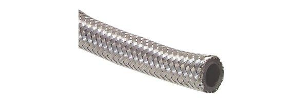 Silberschläuche mit Edelstahldrahtumflechtung (Kraftstoffschläuche)