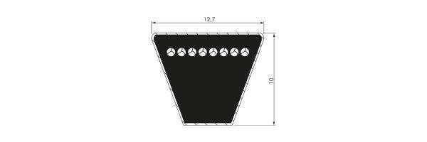 Schmalkeilriemen SPA 12,7 x 10