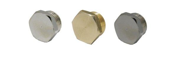 Verschlussstopfen mit Außensechskant und zylindrichem Gewinde, bis 40 bar