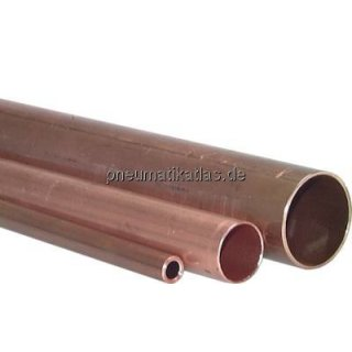 Kupferrohr 12x1,0mm, R 250, Stangenware, hart/halbhart