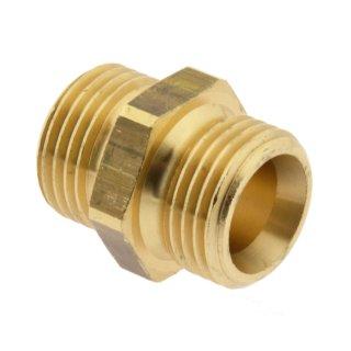 """Doppelnippel G 1 1/2"""" - G 1 1/4""""  , 16 bar Werkstoff Messing/Rotguss"""