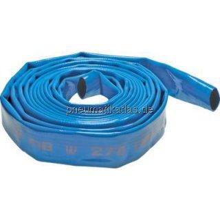 Trinkwasser-Flachschlauch, DN75, blau