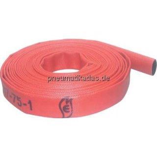 Feuerlöschschlauch DIN 14811, DN75, rot, Klasse 2