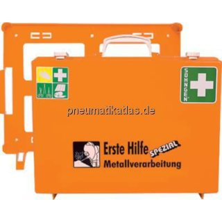 """Erste Hilfe-Koffer, DIN 13157 (klein), """"Metall"""" für Gießerei"""