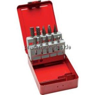HM-Frässtiftsatz, 10-tlg. 10&12 mm, Industriekassettte