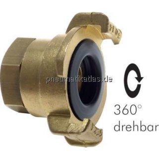 """GK-Schlauchkupplung,G 3/4""""(IG) , drehbar, Messing"""