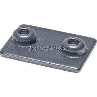Anschweißplatte, Baugr. 0, Stahl