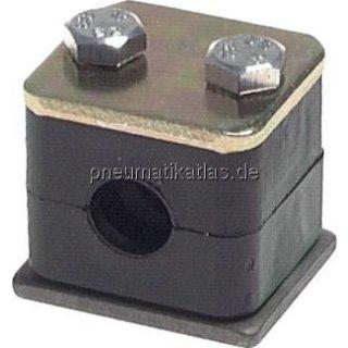 Rohrschelle, leichte Baureihe, 6mm, Baugröße 1
