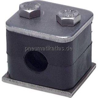 Rohrschelle, leichte Baureihe, 6mm, Edelstahl