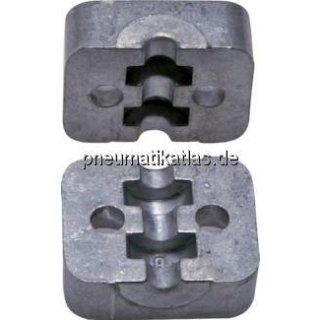 Klemmbackenpaar Aluminium, 6mm , schwer