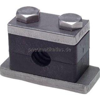 Rohrschelle, schwere Baureihe, 8mm, Edelstahl