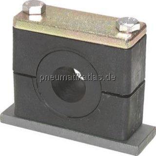 Rohrschelle (Elastomereinsatz) mit Deckplatte, 12mm
