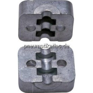 Klemmbackenpaar Aluminium, 14mm, leicht