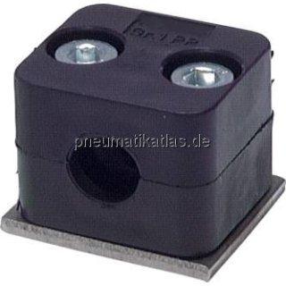 Rohrschelle, leichte Baureihe, 16mm, Edelstahl